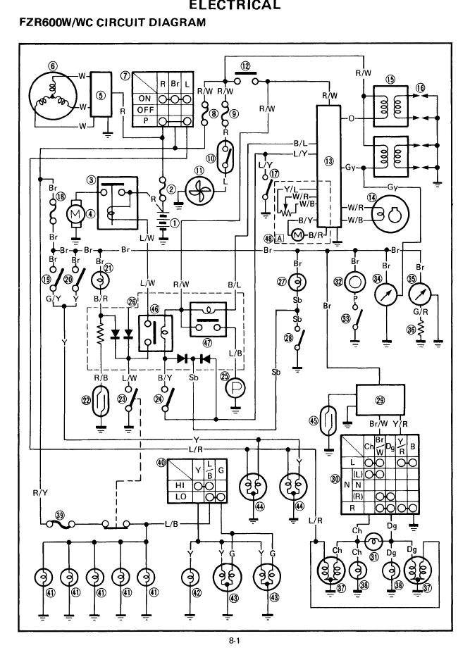 Wiring       diagram    needed for 1989 Yamaha FZR1000    Genesis     Sportbikes