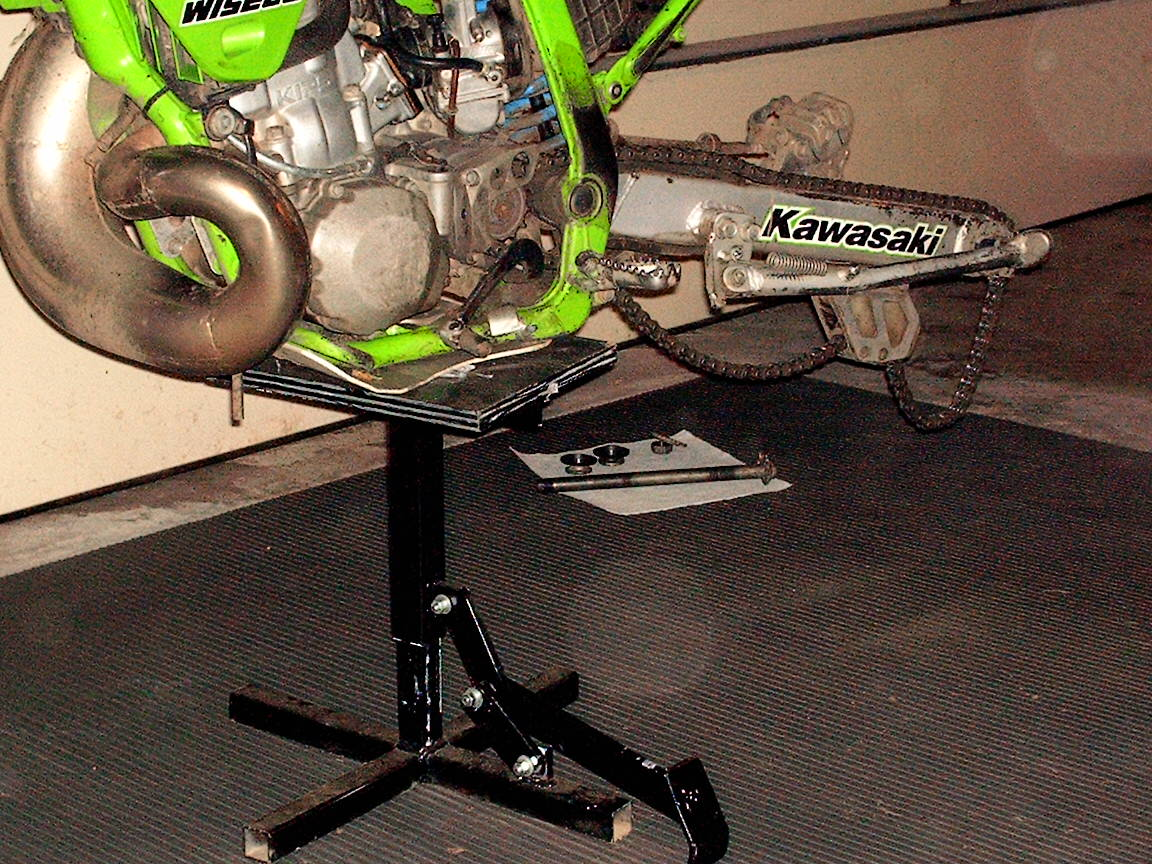 want a cool dirtbike lift      build one yourself