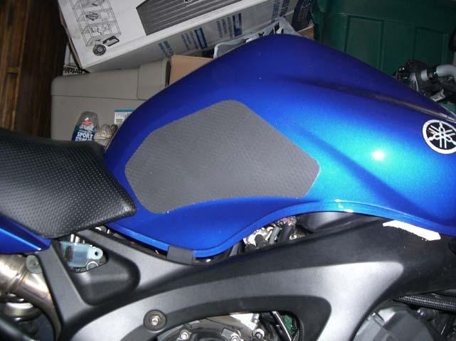 Tank Pad Motorcycle Tank Protector Zig-Zag Blue