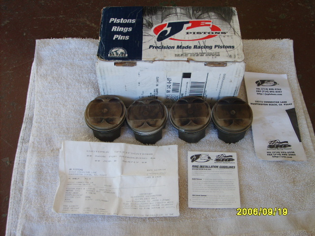 JE 1146 piston kit for sale for a 93-98 gsxr1100 or a 93-95 gsxr750