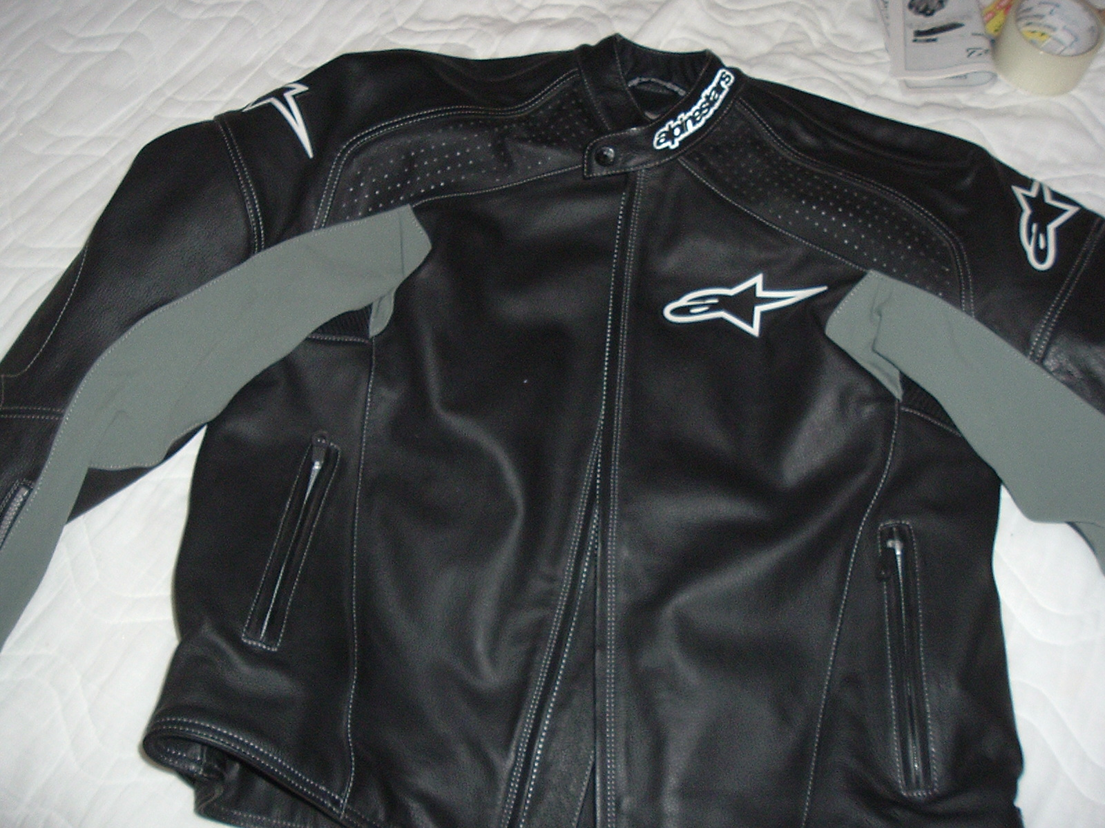 Alpinestars TZ-1 Leather Jacket - Red