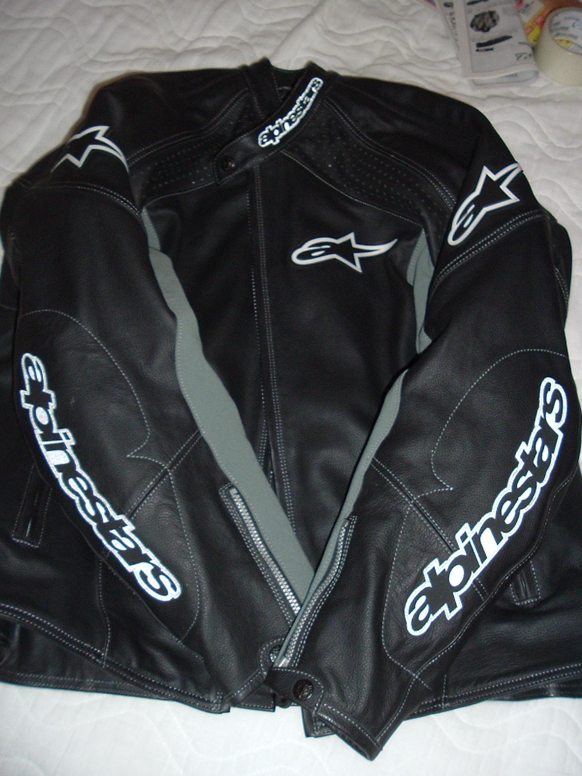 Alpinestars TZ-1 Mens Leather Motorcycle Jacket Genuine