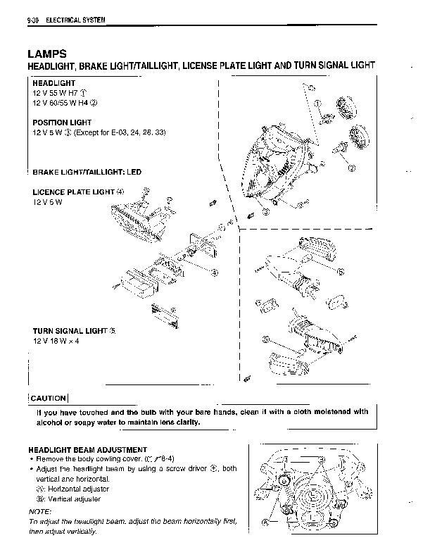 adjusting headlights on '04 gsxr 600? - Sportbikes net