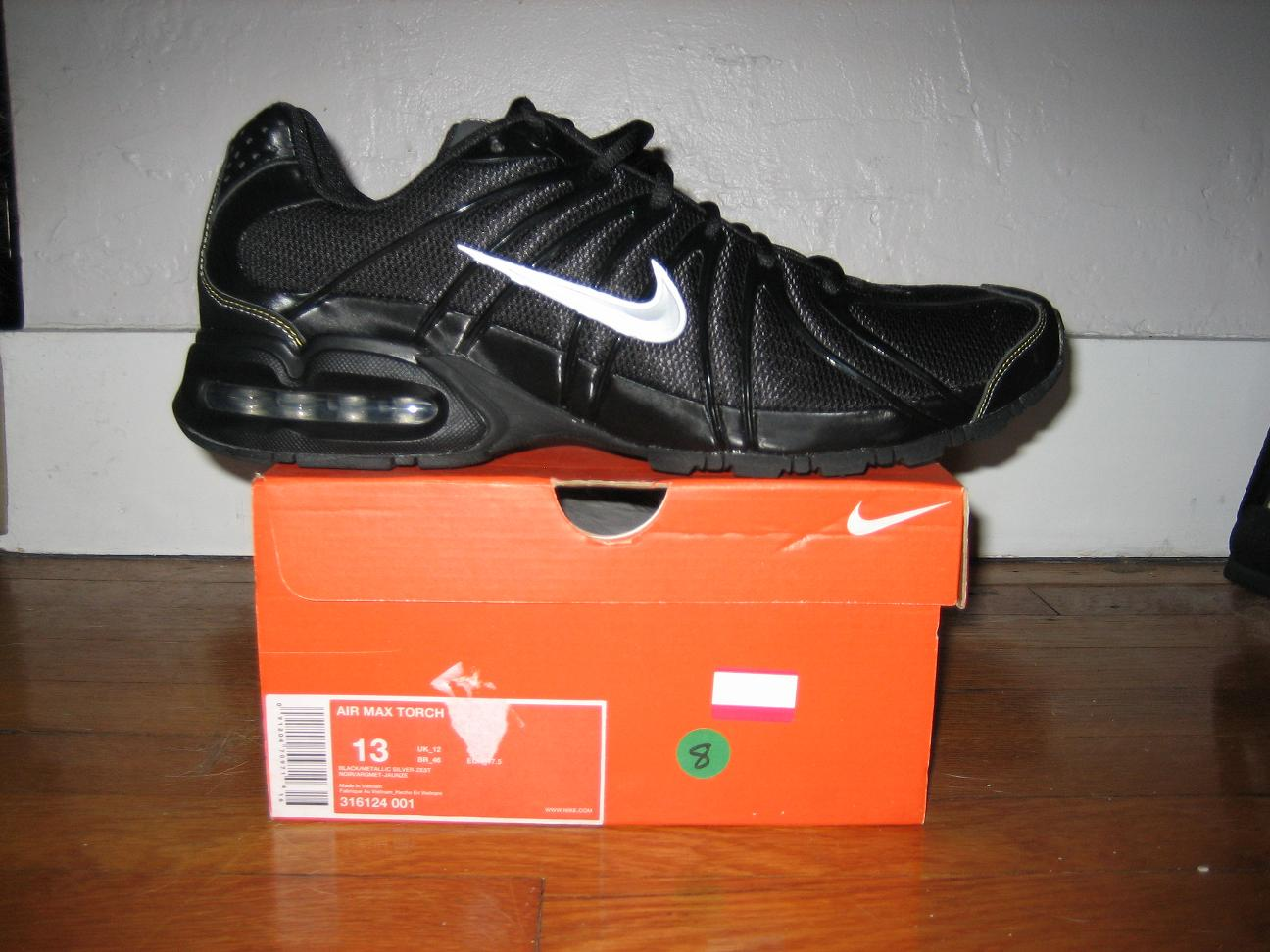 Nike air max men's Black shoes 316124-001 Size 10