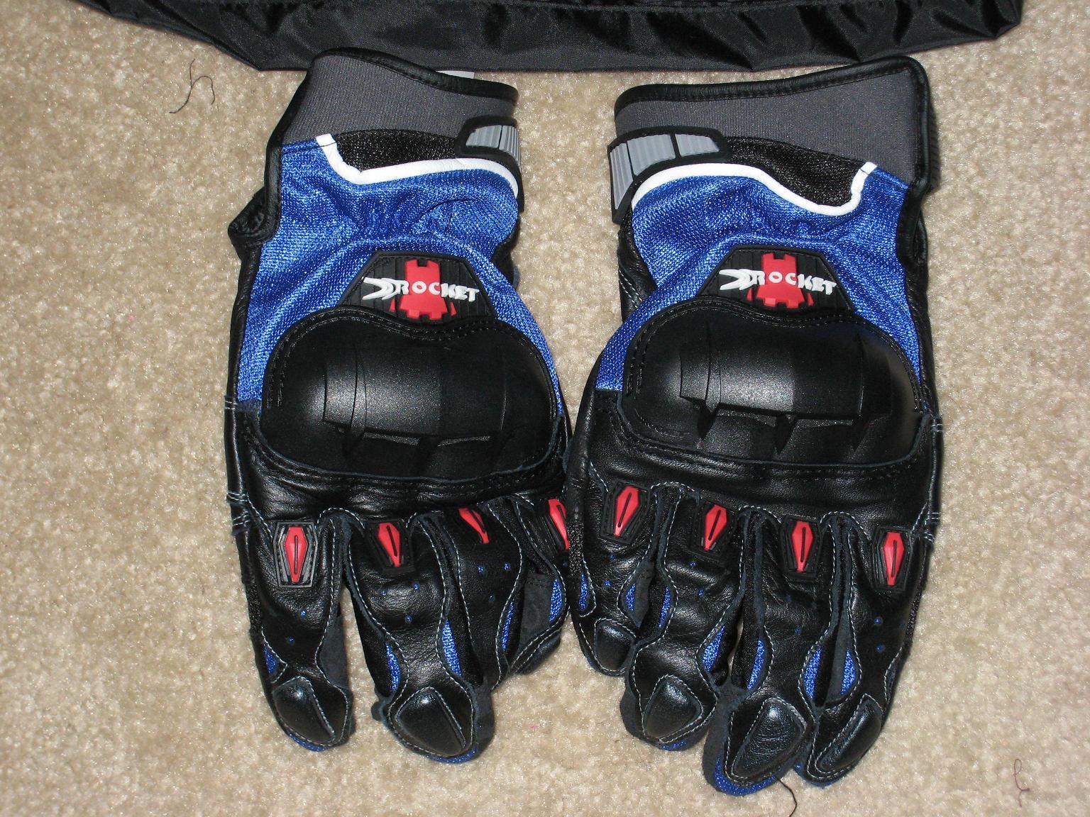 Joe rocket leather motorcycle gloves -  Leather Gloves 10459 Fs New Joe Rocket Phoenix 4 0 Blue Textile Jacket Size M Phoenix
