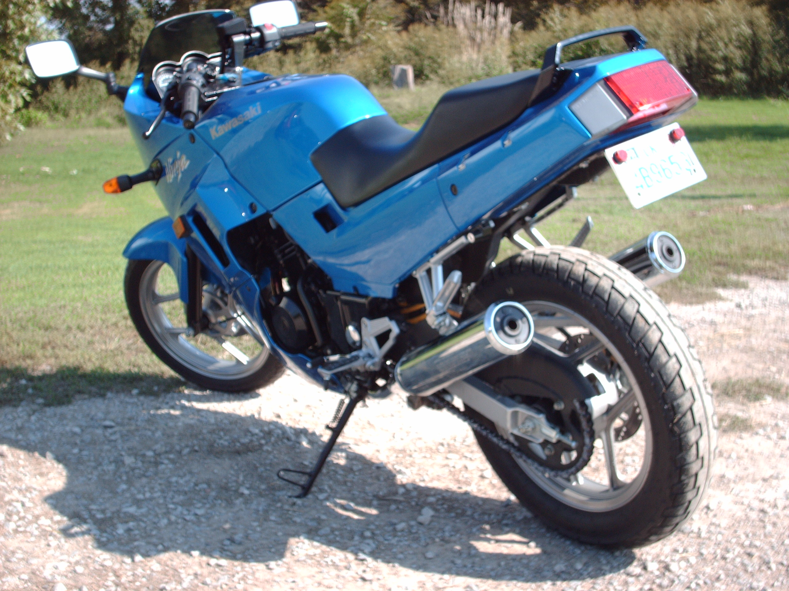 ninja 250 extended kickstand 4 sale sv650 or ex500 shock upgrade