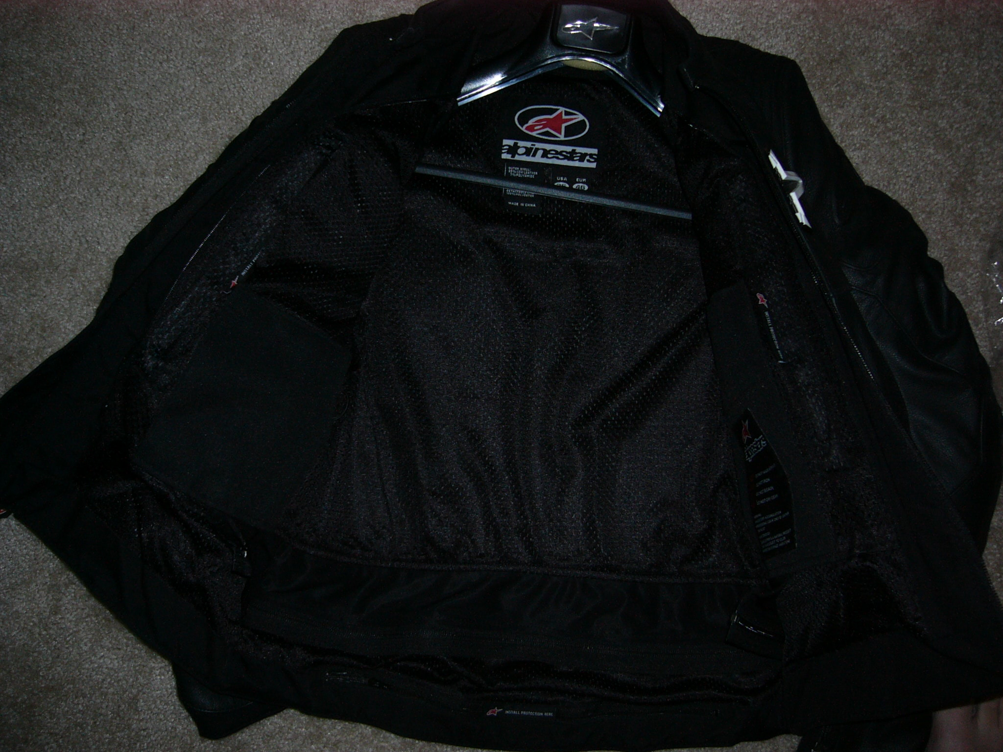 View Single Post - For Sale: Alpinestars SMK Leather Jacket (Black