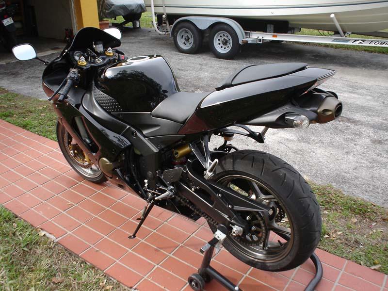 2006 black kawasaki zx6r 636 fs - sportbikes