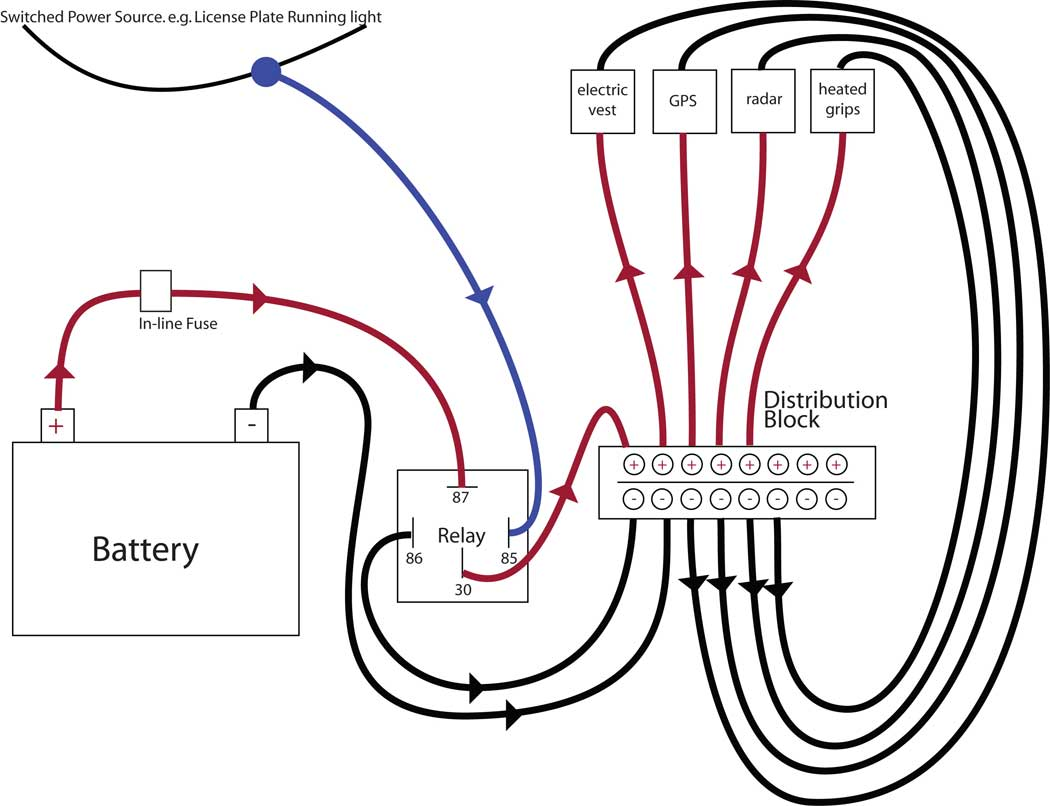 Volt Relay Diagram Merzienet - Relay wiring diagram lights
