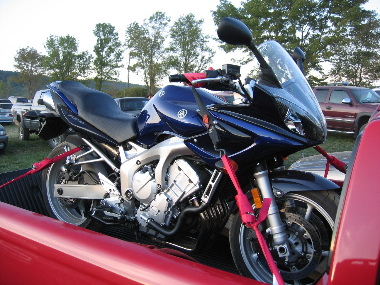 D Best Tie Down Points Fz While Trailering Tie Down on 2005 Yamaha Fz6